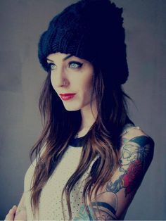 Gorgous tatoos,hair,makeup,clothes....everything