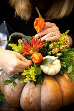 Pumpkin floral arrangement.