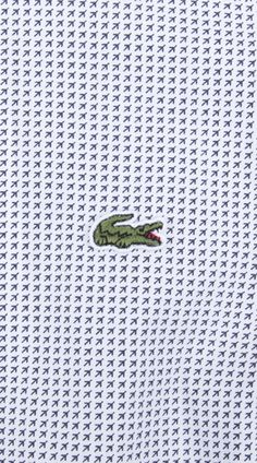 Up close and personal #Lacoste printed #polo