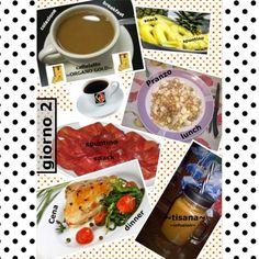 Buona sera!! Un altra giornata di dieta é finita e io posso essere fiera di me.... Evvai .... Bando alle ciance vi dico il mio #diarioalimentare di oggi (o #dieta come volete) La #colazione di oggi era praticamente inesistente : #caffelatte (x me sempre #organogold!!) e stop... #spuntino di metà mattina #ananas e poi finalmente #pranzo: Si poteva scegliere se insalata di #ceci e #finocchi oppure zuppa...ho scelto l'insalata...poi ovviamente il mio #caffèOG non zuccherato ( ) Nel pomeriggio…