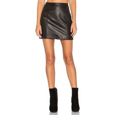 L'Academie The Leather Mini Skirt ($315) ❤ liked on Polyvore featuring skirts, mini skirts, short skirt, short mini skirts, short white skirt, lined skirt and leather skirts