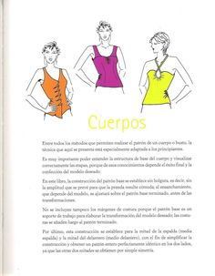 217092033-Diseno-de-moda-Patronaje-Las-bases-Caratula-a-Pg-25.pdf Comics, Social, Couture, Tops, World, Toddler Sewing Patterns, Tailoring Techniques, Sewing Magazines, Sewing Lessons