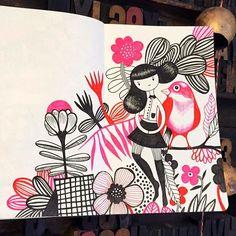 Helen Dardik today in my sketchbook... #moleskine #sketch