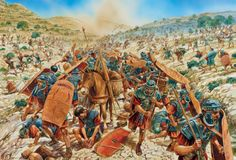 The Jewish trap closes on the Roman legionaries at the Beth Horon Pass - art by Peter Dennis Military Art, Military History, Ancient Rome, Ancient History, Imperial Legion, Rome Antique, Roman Warriors, Roman Legion, Roman Soldiers