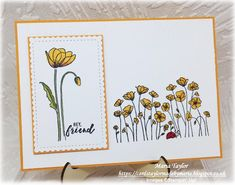 Cards Taylor Made by Maria: Yellow Poppies! – SU SAB + Frühjahr 2020 – Home crafts Sympathy Cards, Greeting Cards, Stampin Up Karten, Poppy Cards, Friendship Cards, Stamping Up Cards, Cards For Friends, Handmade Birthday Cards, Flower Cards