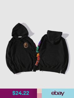 0e842cd2e058 Sweats   Hoodies Men s A Bathing Ape Bape Monkey Head Casual Hoodie  Pullover Long-Sleeved Sweater
