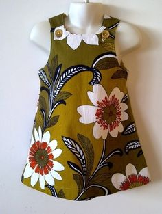 love these bold prints for wee girl dresses!  $50