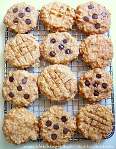 Watching What I Eat: Peanut Butter Banana Oat Breakfast Cookies with Ca...