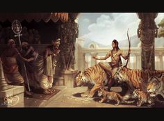ArtStation - Sabarimala story from Aithihyamala, Abhilash Narayanan Lord Ganesha Paintings, Lord Shiva Painting, Buddha Painting, Ganesha Art, Krishna Art, Hare Krishna, Shiva Hindu, Hindu Deities, Hindu Art