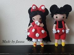 leo en lizzy in hun mickey/minnie outfit pattern by Made by janna