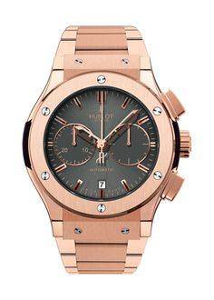 Classic Fusion Racing Grey King Gold Bracelet Chronograph watch from Hublot