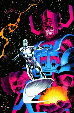 Galactus & the Silver Surfer by John Buscema