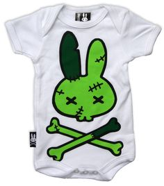 Six Bunnies Baby FRANKEN Strampler.Tattoo,Biker,Oldschool,Rockabily,Custom Style