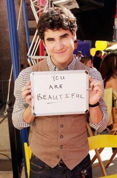 Aw Darren Criss <3  #glee