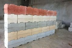 This article will discuss what interlocking bricks are, the advantages and disadvantages of using them and whether they are good for construction. - click for 3 min read Concrete Masonry Unit, Concrete Cement, Concrete Blocks, Fly Ash Bricks, Paver Blocks, Interlocking Bricks, Brick Pavers, Brick Design, Brick Block