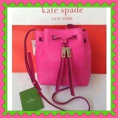 ♠️Authentic Kate Spade Leather Handbag♠️ % AUTHENTIC ✨ Very cute, very pretty soft leather handbag from Kate Spade Shoulder & Crossbody bag✨ Adjustable strap Pocket inside Lovely front tassels Yellow gold tone hardware  NO TRADE  kate spade Bags Crossbody Bags