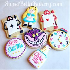 They're All Quite Mad.... Alice in Wonderland cookies