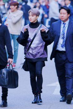Jimin ❤ BTS Arrival at KBS Music Bank #BTS #방탄소년단