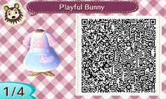 """acnlqrcode-edition: """"Bunny dresses ^_^ really cute """""""