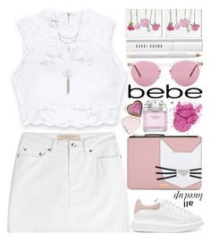 """All Laced Up for Spring with bebe: Contest Entry"" by grozdana-v ❤ liked on Polyvore featuring Bebe, Marc by Marc Jacobs, Charlotte Russe, Karl Lagerfeld, Alexander McQueen, Oliver Gal Artist Co., Boohoo, Victoria's Secret, Bobbi Brown Cosmetics and Oliver Peoples"