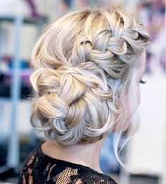 Cute Prom Updo Hairstyles 2015 Ideas: Elegant and easy braided updo 2015 with a . - Cute Prom Updo Hairstyles 2015 Ideas: Elegant and easy braided updo 2015 with a side braid and brai - Box Braids Hairstyles, 2015 Hairstyles, My Hairstyle, Wedding Hairstyles, Cool Hairstyles, Elegant Hairstyles, Dance Hairstyles, Easy Braided Updo, Braided Prom Hair