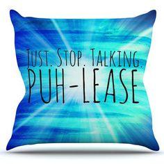 KESS InHouse Puh-lease by Ebi Emporium Outdoor Throw Pillow