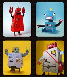 Free 'print & fold' toys #Kids #Toys #Robots