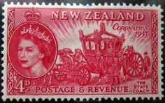 New Zealand (10) 1953 Coronation 4d carmine - State Coach