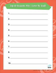 Top Ten Reasons Why I Love... free printables includes Mom, Sister, Brother, Grandma, Grandfather