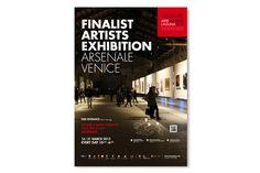 Finalist Artists Exhibition Poster Arsenale, Venice Arte Laguna Prize Premio Arte Laguna