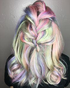 Fairy Dust @behindthechair_com one shot awards. #btconeshot_rainbow16 #btconeshot_color #btconeshot_color16 #unicornhair #mermaidhair #pastelhair #modernsalon #btconeshot_hairpaint16 #btconeshot_ombre16 #modernsalon by vanessastylesyou