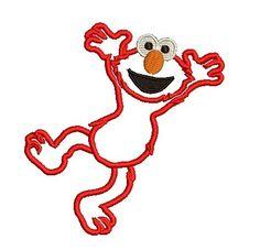Elmo Applique, Applique Embroidery Design, Applique Elmo, Elmo Body