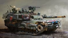 ArtStation - Post-Apocalyptic M1A2 by Mike Yakovlev