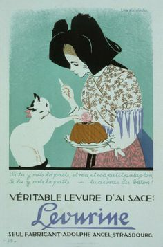 Levurine véritable levure d'Alsace; seul fabricant, Adolphe Ancel, Strasbourg Lika Marowska