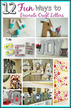 Craft letters are really inexpensive and a fun way to add some whimsy to your home. Here are 12 Fun DIY craft letter decoration ideas to try out!