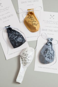 DIY - Sharpie Balloon Save the Date Invitation                                                                                                                                                                                 More
