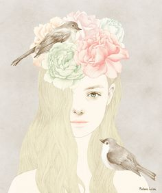 Delicate pastel Illustration x