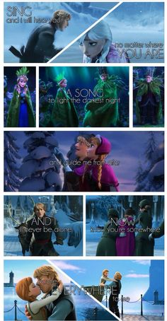 Anna and Kristoff as I listen to this song, these pictures make so much more sense with the lyrics. now I cant help but see other scenes from a different story, a different life, same love. What the song call? Frozen Anna And Kristoff, Frozen And Tangled, Disney Frozen, Frozen Heart, Disney And More, Disney Love, Disney Magic, Disney And Dreamworks, Disney Pixar