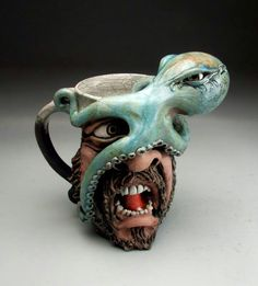 Mitchell Grafton - Grafton Pottery - Face Mug - Octopus - George
