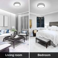 32W LED Ceiling Lights IP65 Waterproof 2800lm Flush Mount Ceiling Light – onforuleds Round Led Ceiling Light, Led Ceiling Lights, Ceiling Lamp, Light Shield, Indoor Swimming Pools, Flush Mount Ceiling, White Light, Light Colors