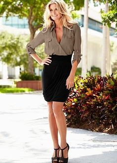 Wrap Shirtdress    $29.00