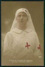Red Cross Nurse Glorious Portrait original old WWI ww1 war photo postcard