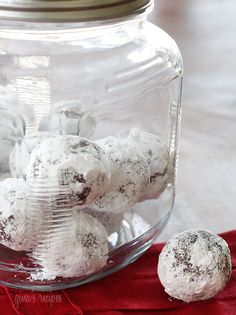 "No-bake Fudgy Snow Balls ""No oil, no butter, no baking required. There's much to love about these no-bake cookies, they are healthy, dairy-free, egg-free, gluten-free, vegan, and they taste great too.  """
