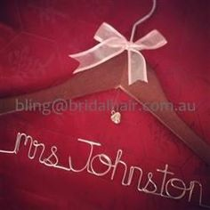 Custom Personalised Name Bridal Hanger on Handmade Australia $25 +p/h.
