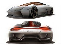 Lamborghini Indomable Concept Design Sketches