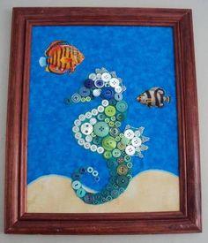 Seahorse Button Wall Art PHOTOMUS MAXIMUS - HOME SWEET HOME