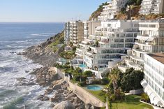 Apartments at the edge of the Atlantic Ocean in Clifton, South Africa