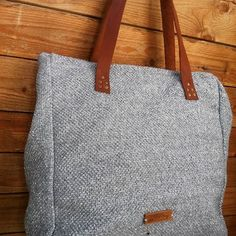 Sigo (bags & more) ( Go Bags, Handmade Accessories, Ready To Wear, Hand Weaving, Etsy Shop, Shoulder Bag, Tote Bag, Grey, Leather