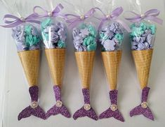 La imagen puede contener: helado y comida Baby Mermaid, Mermaid Birthday, 1st Birthday Girls, Mermaid Party Favors, Mermaid Parties, Mermaid Gifts, Craft Party, Birthday Party Decorations, Birthday Parties