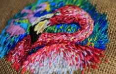Danielle Clough - Embroidery / Rest your head on this (detail)